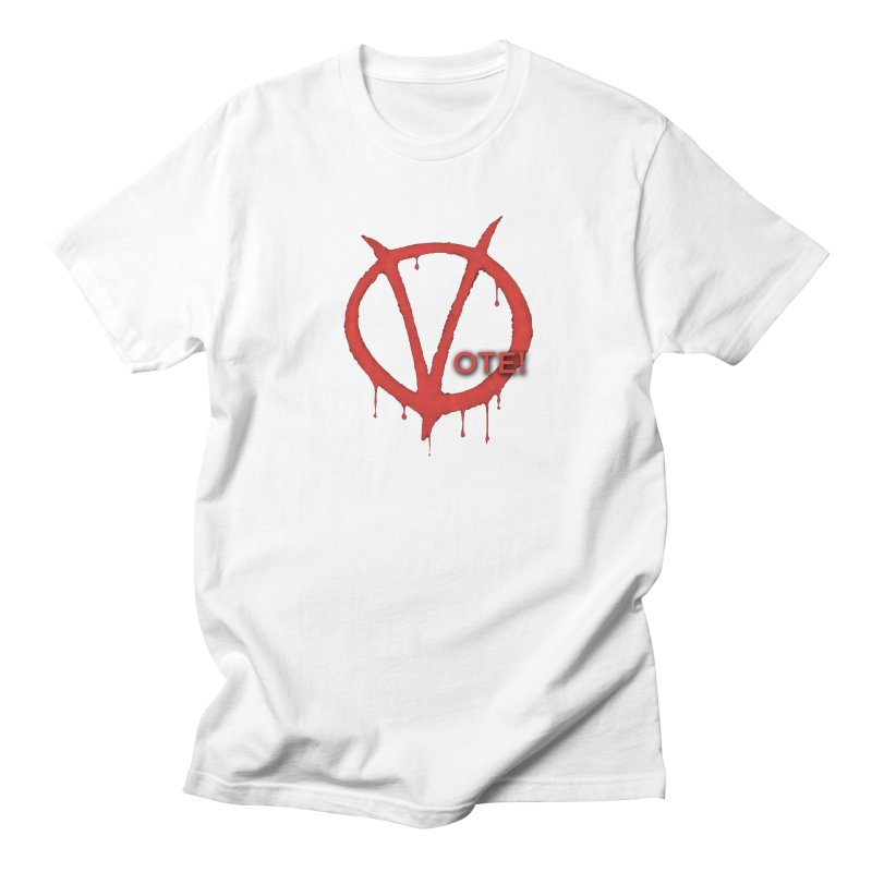 V for Vote Women's Regular Unisex T-Shirt by Resistance Merch