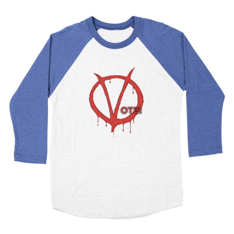 V for Vote Men's Baseball Triblend Longsleeve T-Shirt by Resistance Merch