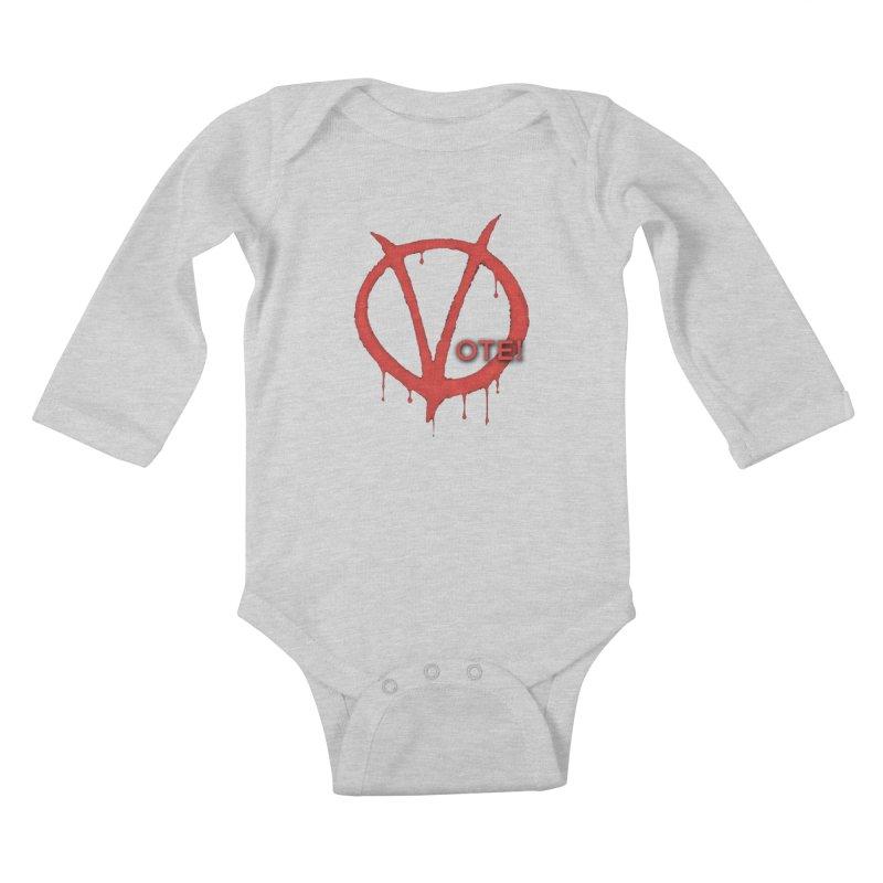 V for Vote Kids Baby Longsleeve Bodysuit by Resistance Merch