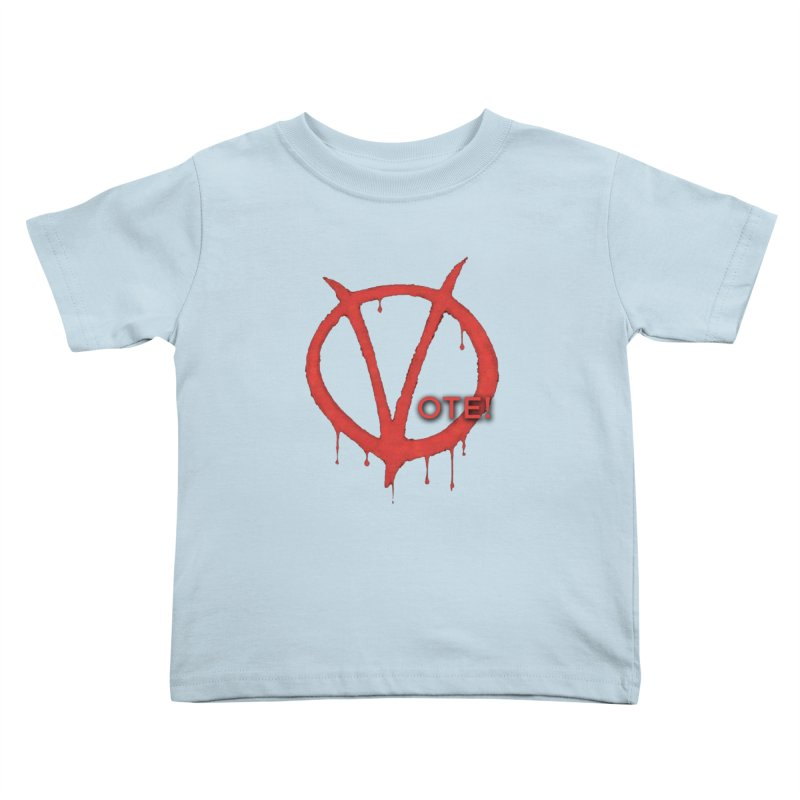V for Vote Kids Toddler T-Shirt by Resistance Merch