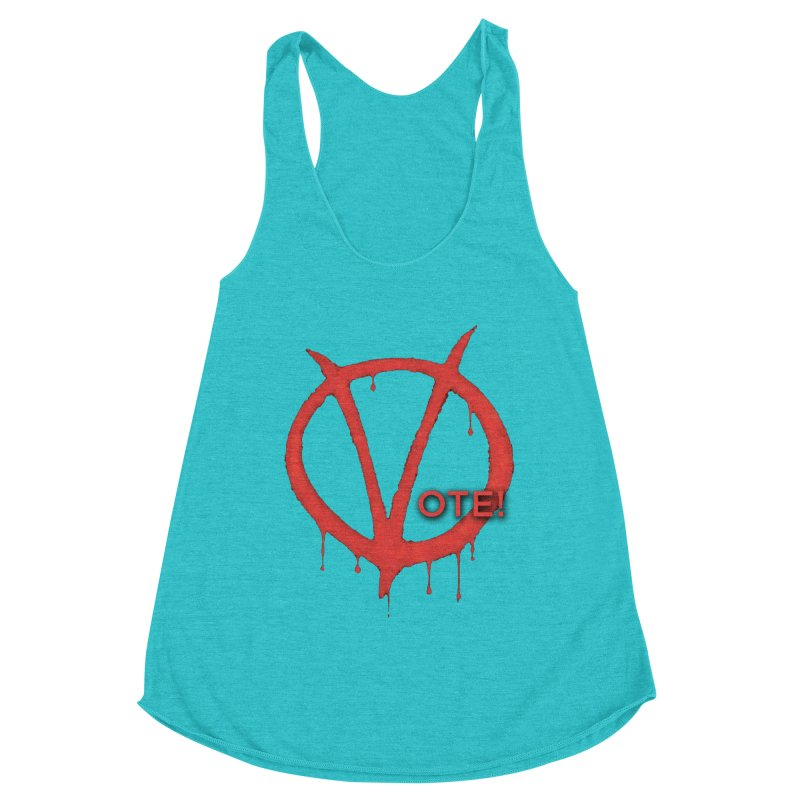 V for Vote Women's Racerback Triblend Tank by Resistance Merch