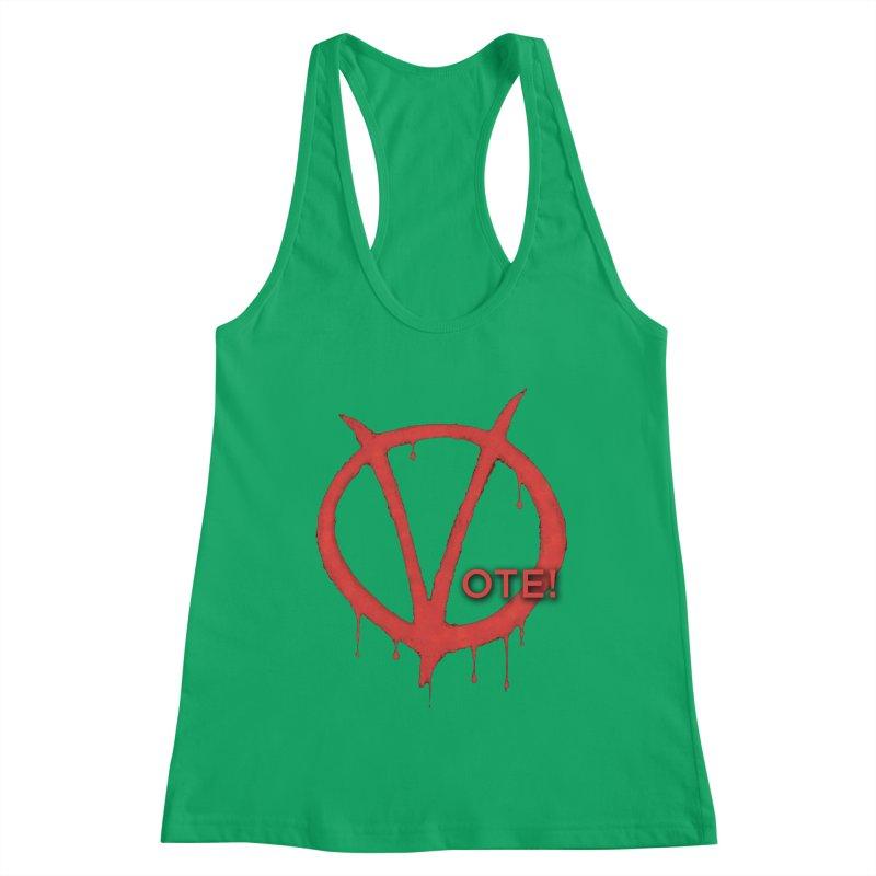V for Vote Women's Racerback Tank by Resistance Merch