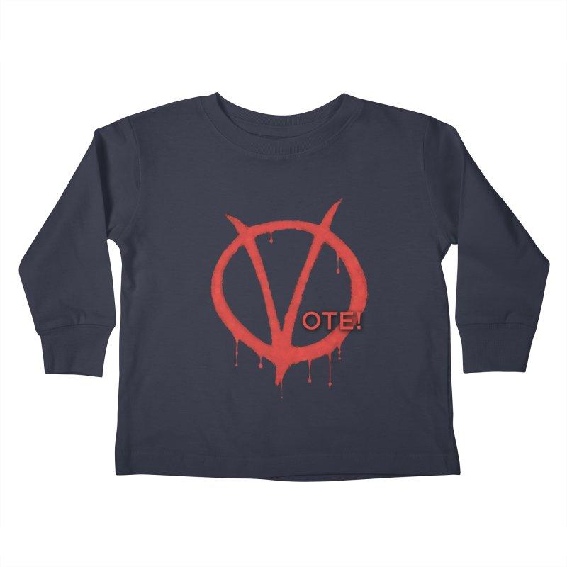 V for Vote Kids Toddler Longsleeve T-Shirt by Resistance Merch