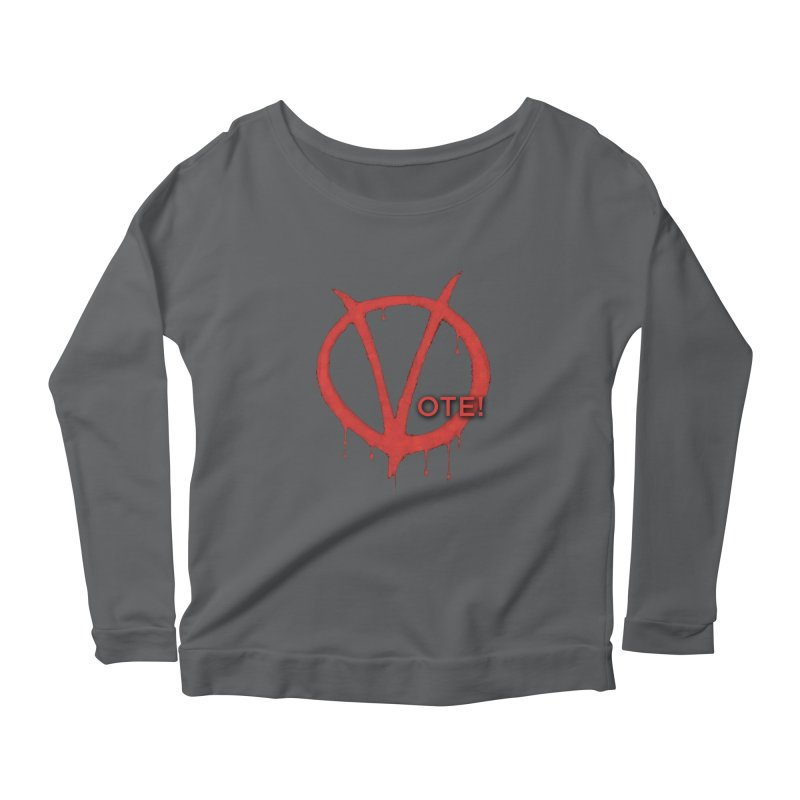 V for Vote Women's Longsleeve T-Shirt by Resistance Merch