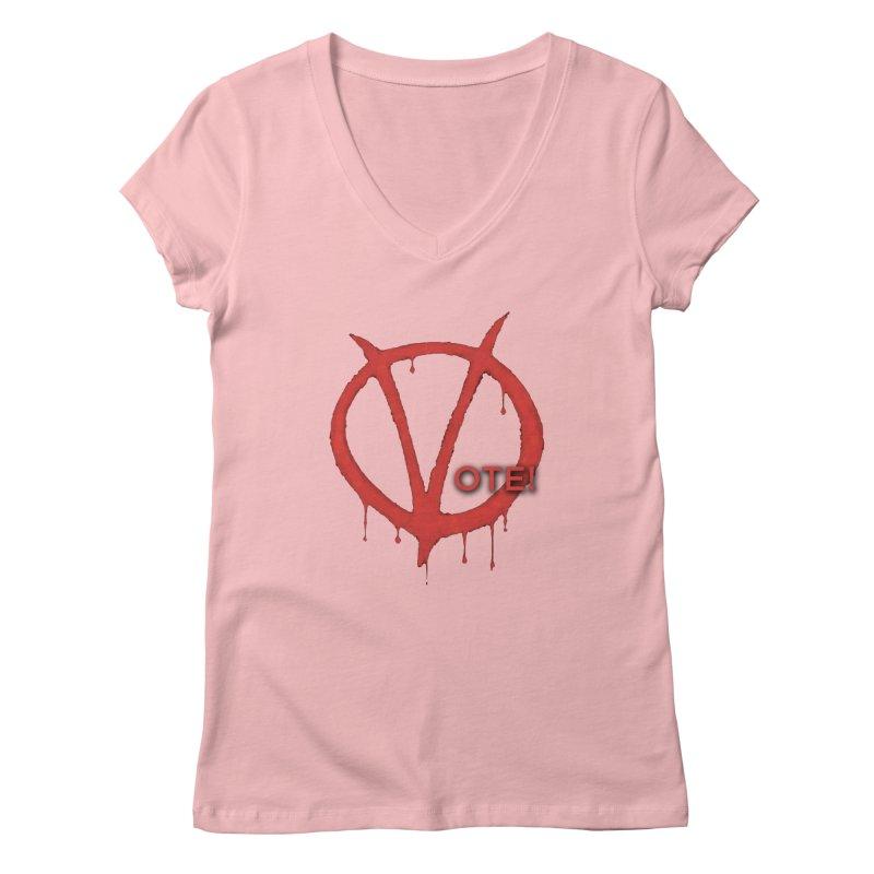 V for Vote Women's Regular V-Neck by Resistance Merch