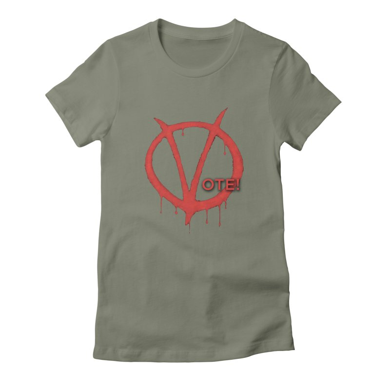V for Vote Women's Fitted T-Shirt by Resistance Merch