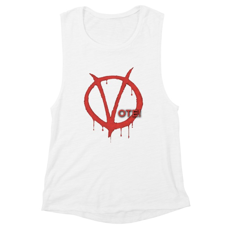 V for Vote Women's Muscle Tank by Resistance Merch