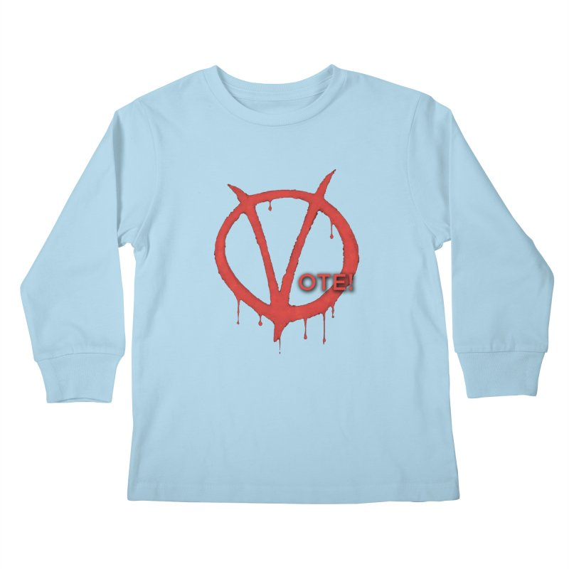 V for Vote Kids Longsleeve T-Shirt by Resistance Merch