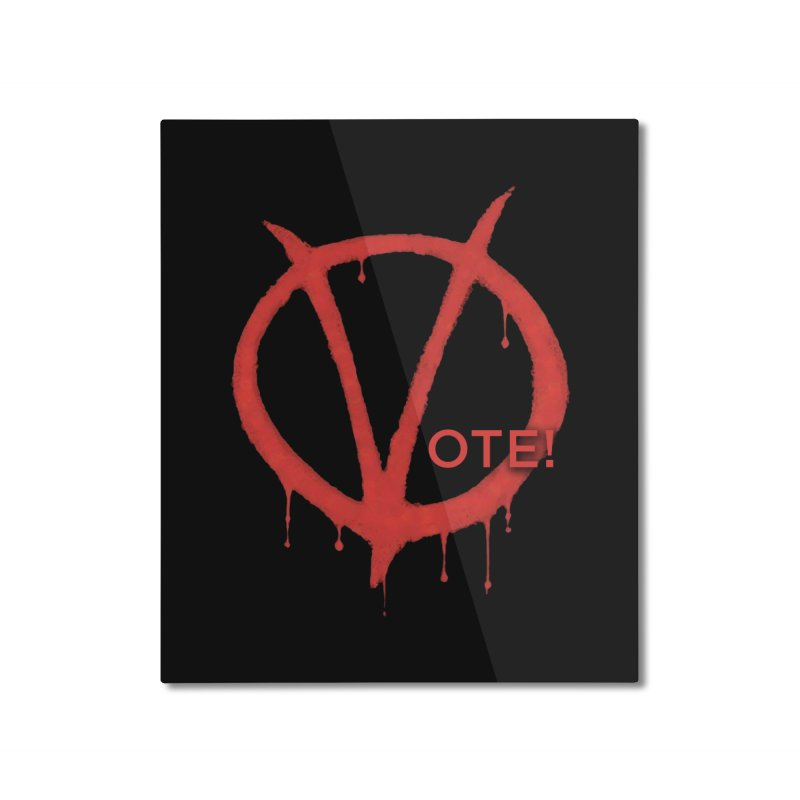 V for Vote Home Mounted Aluminum Print by Resistance Merch