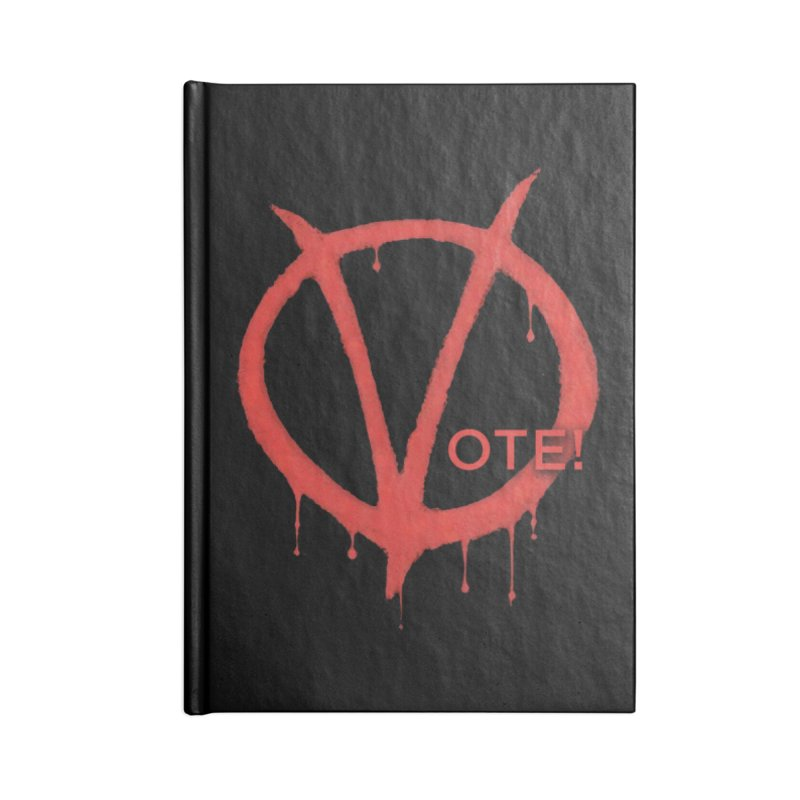V for Vote Accessories Lined Journal Notebook by Resistance Merch