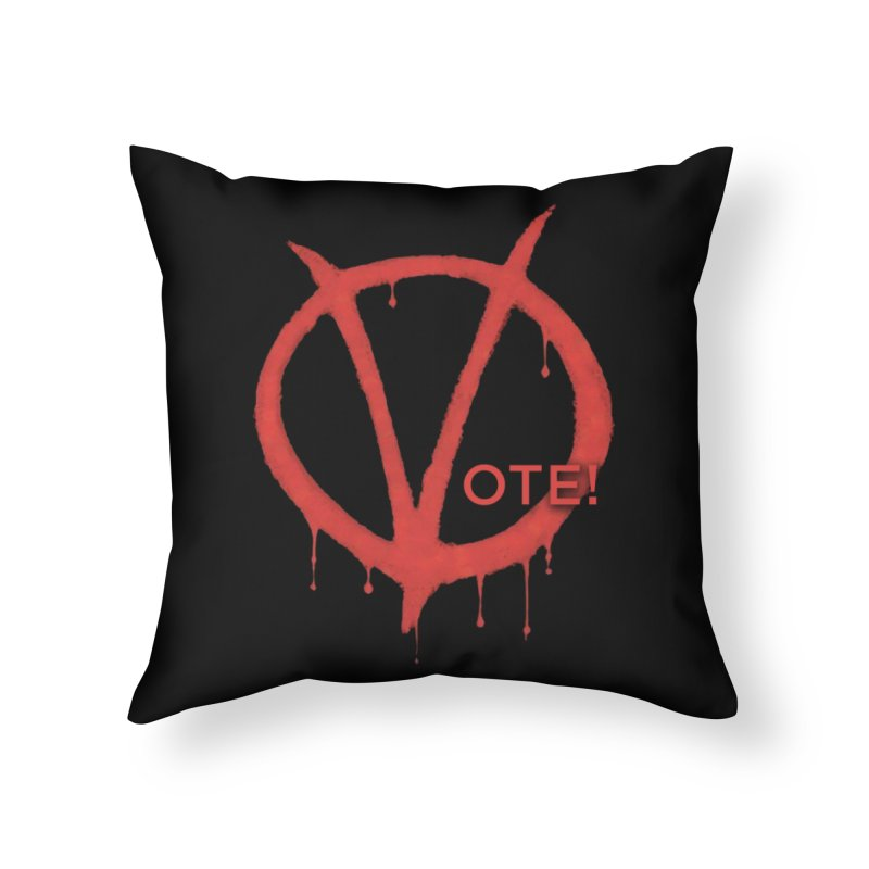 V for Vote Home Throw Pillow by Resistance Merch