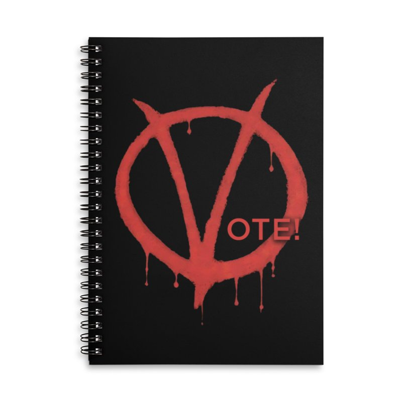 V for Vote Accessories Lined Spiral Notebook by Resistance Merch