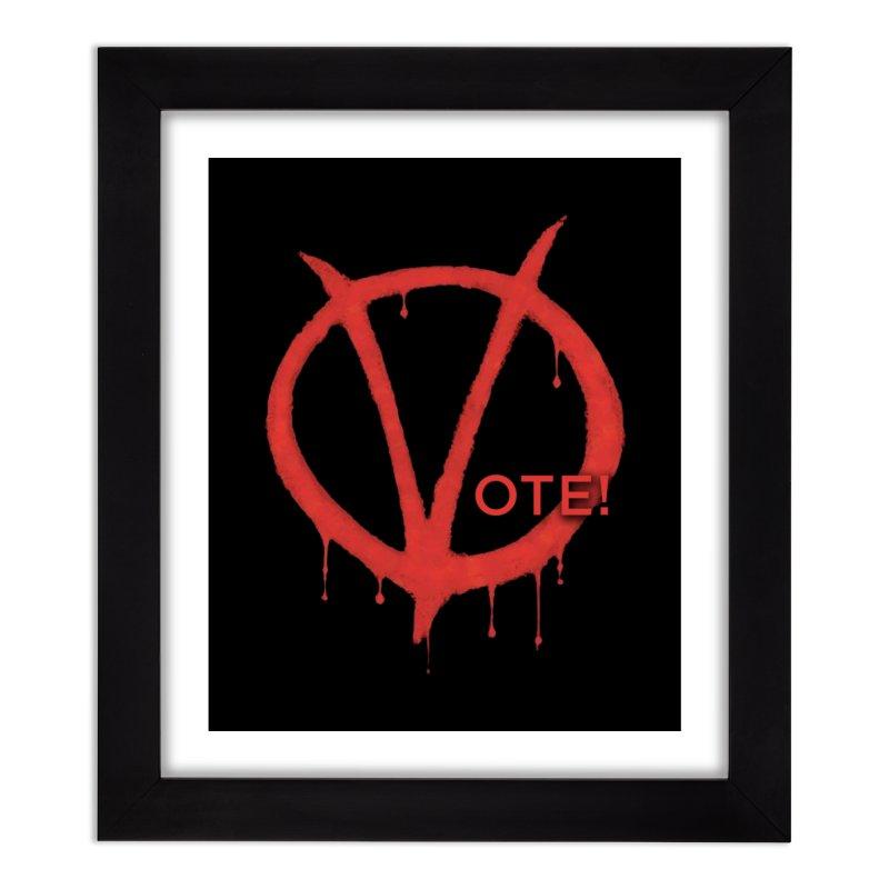 V for Vote Home Framed Fine Art Print by Resistance Merch