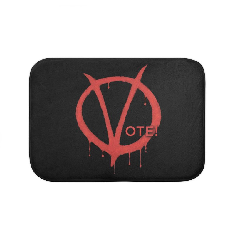 V for Vote Home Bath Mat by Resistance Merch