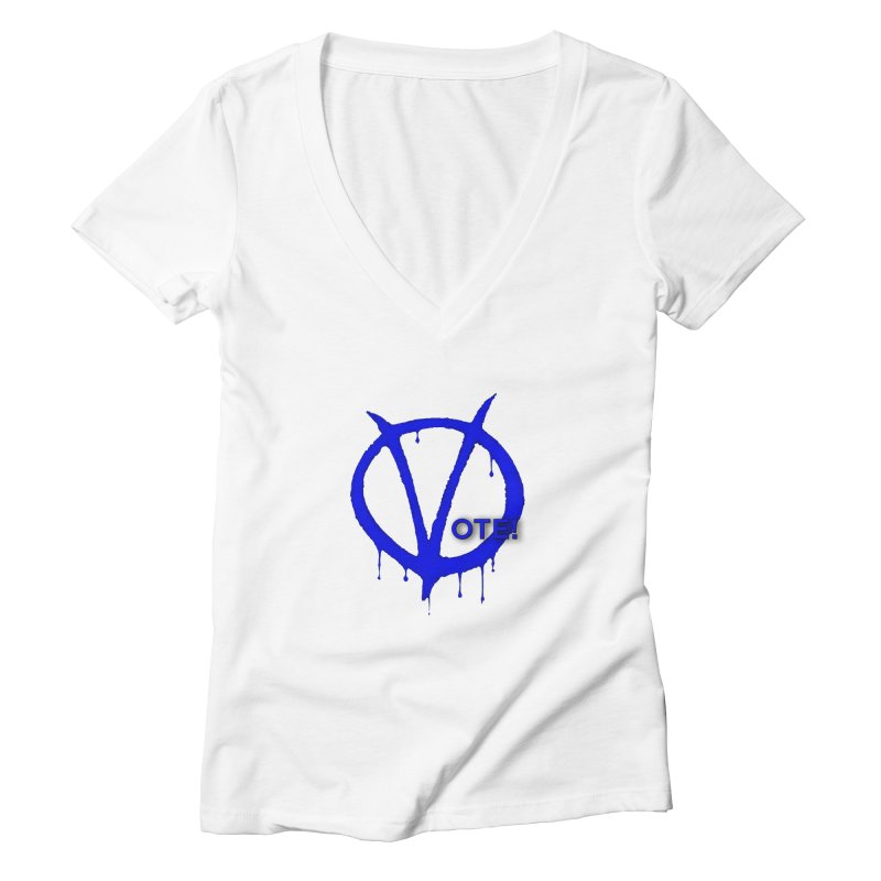 Vote Blue Women's Deep V-Neck V-Neck by Resistance Merch
