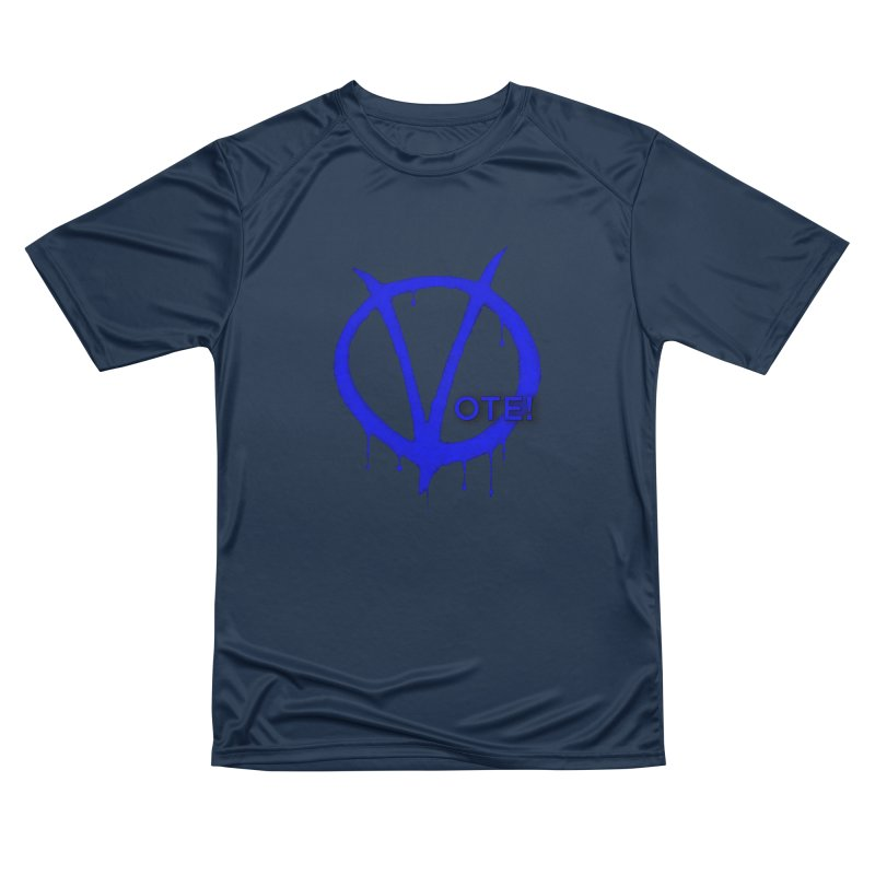 Vote Blue Women's Performance Unisex T-Shirt by Resistance Merch