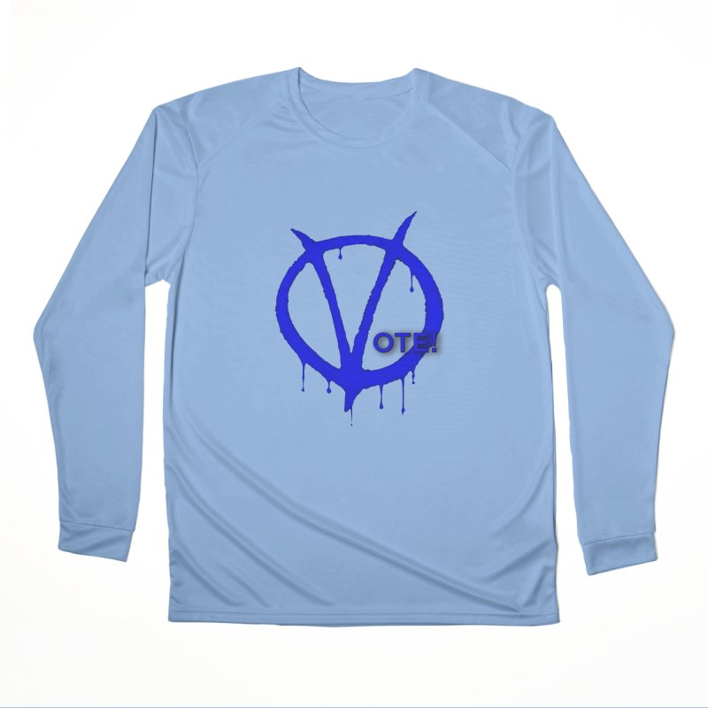 Vote Blue Men's Performance Longsleeve T-Shirt by Resistance Merch