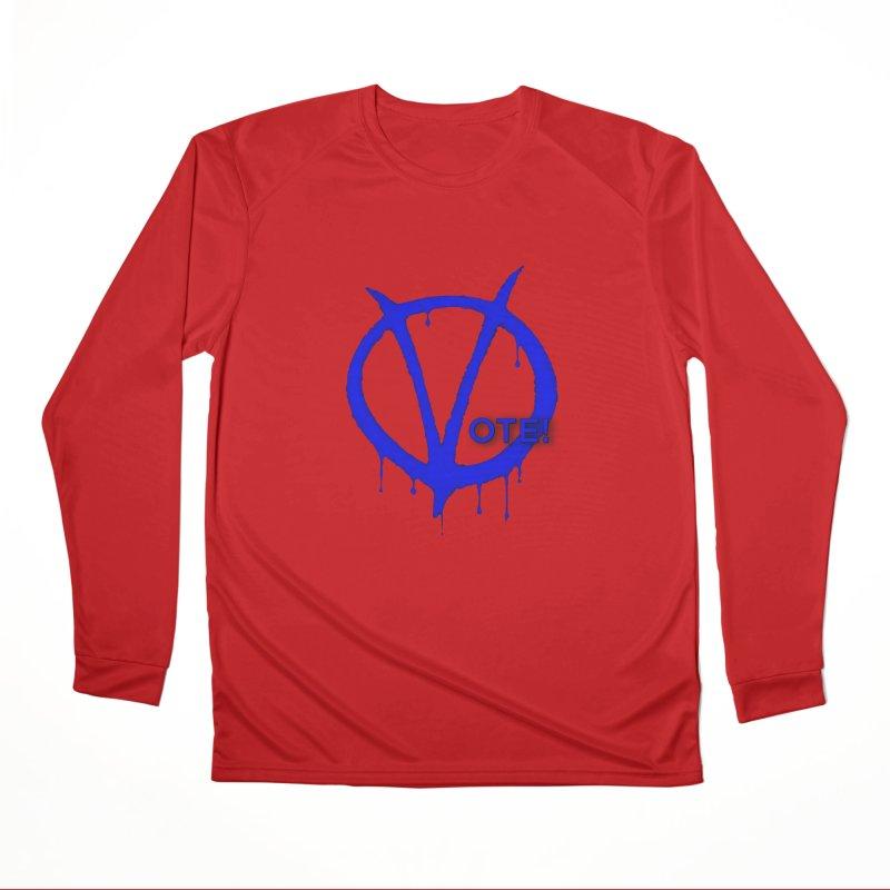 Vote Blue Men's Performance Longsleeve T-Shirt by Resistance Merch
