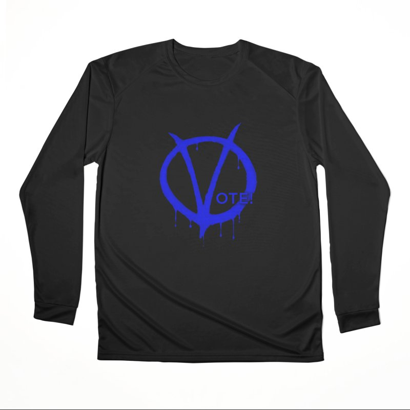 Vote Blue Women's Performance Unisex Longsleeve T-Shirt by Resistance Merch