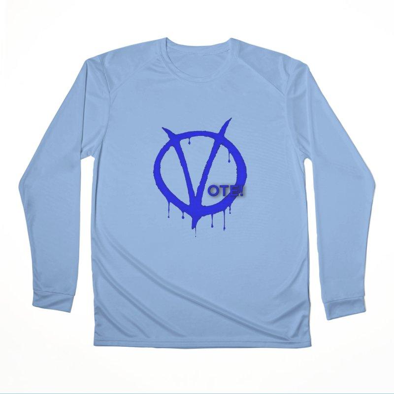 Vote Blue Women's Longsleeve T-Shirt by Resistance Merch