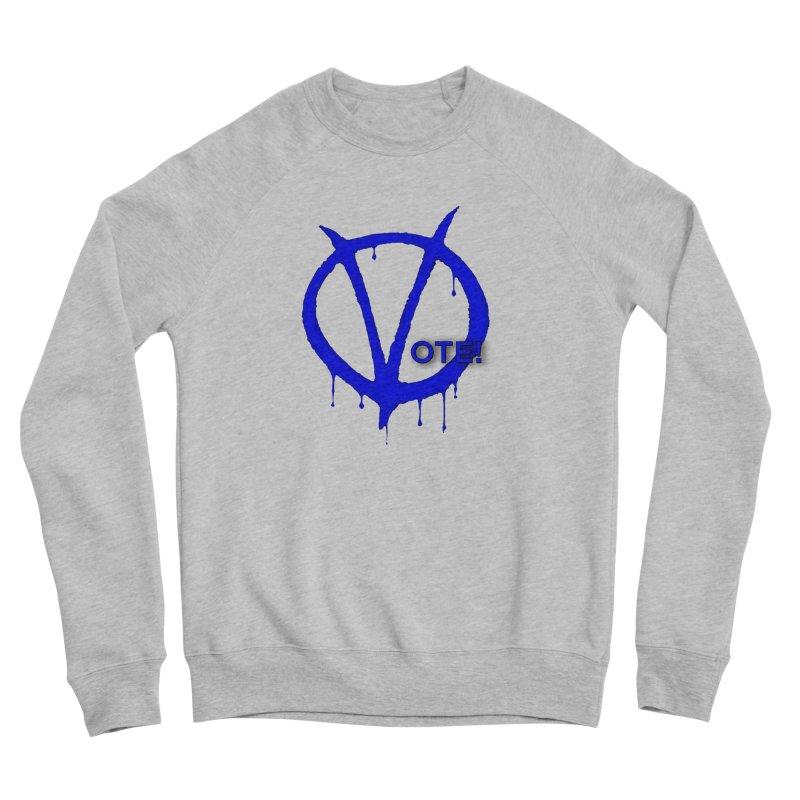 Vote Blue Women's Sponge Fleece Sweatshirt by Resistance Merch