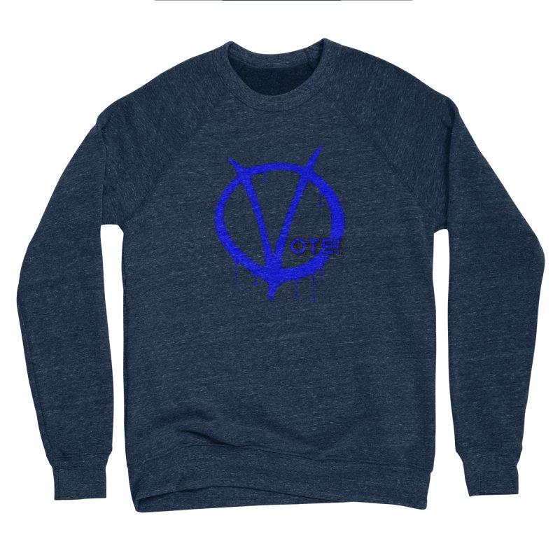 Vote Blue Men's Sponge Fleece Sweatshirt by Resistance Merch