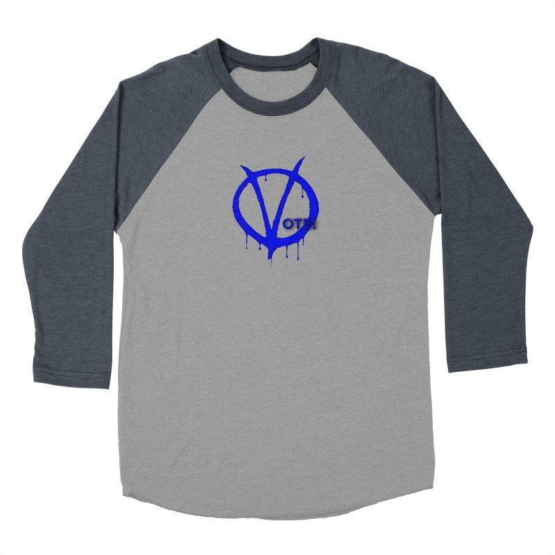 Vote Blue Women's Baseball Triblend Longsleeve T-Shirt by Resistance Merch