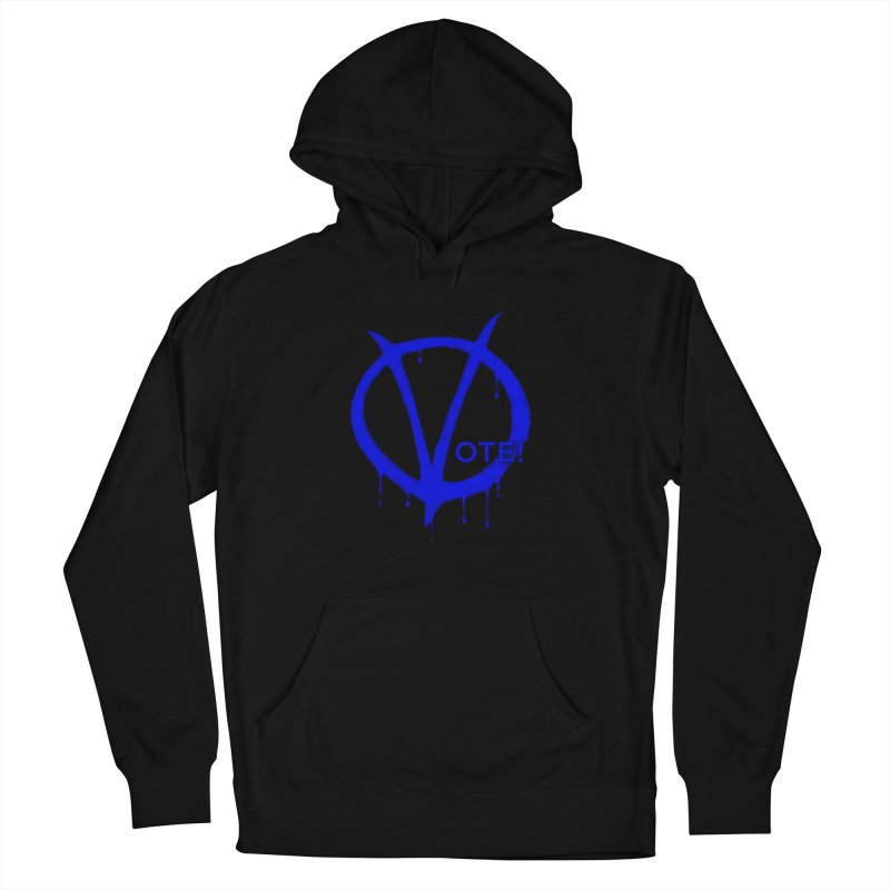 Vote Blue Women's French Terry Pullover Hoody by Resistance Merch
