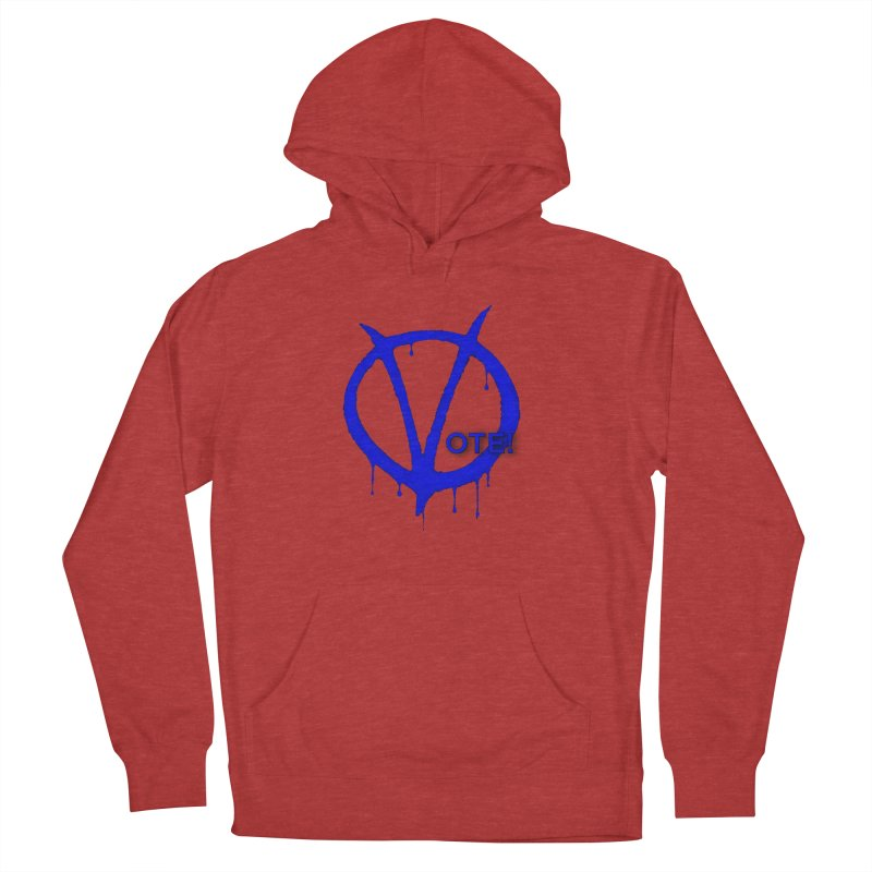 Vote Blue Men's French Terry Pullover Hoody by Resistance Merch