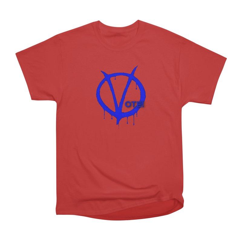 Vote Blue Women's Heavyweight Unisex T-Shirt by Resistance Merch