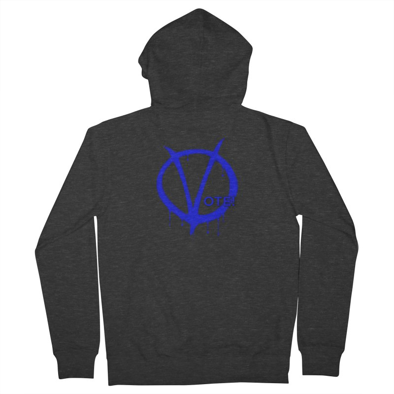 Vote Blue Women's French Terry Zip-Up Hoody by Resistance Merch