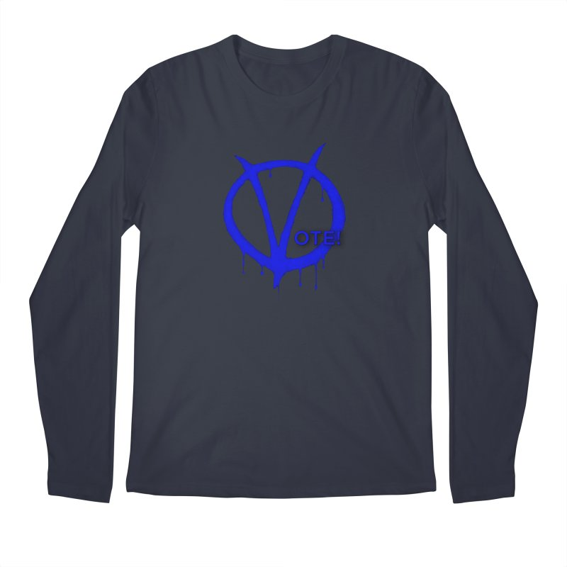 Vote Blue Men's Longsleeve T-Shirt by Resistance Merch