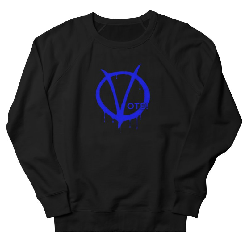 Vote Blue Women's French Terry Sweatshirt by Resistance Merch