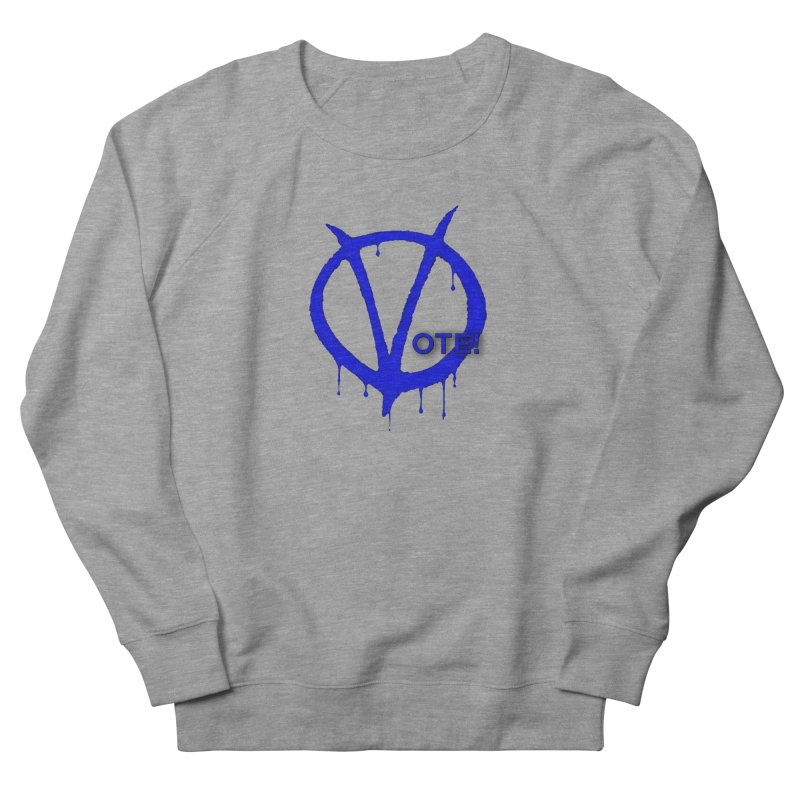Vote Blue Men's French Terry Sweatshirt by Resistance Merch