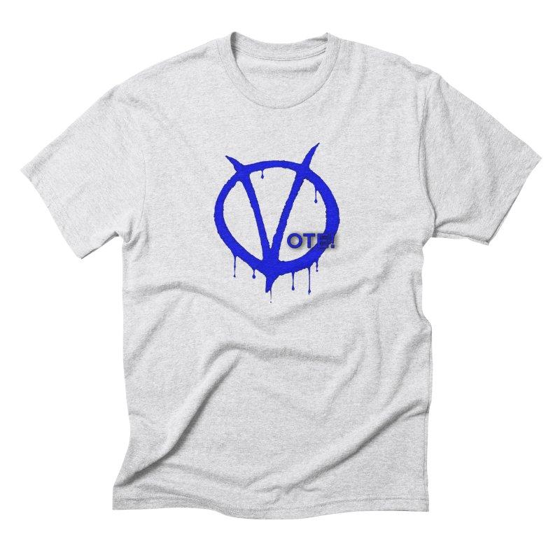 Vote Blue Men's Triblend T-Shirt by Resistance Merch