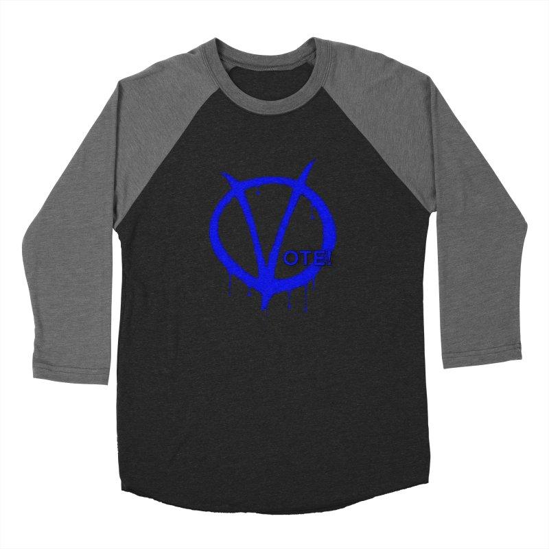 Vote Blue Men's Baseball Triblend Longsleeve T-Shirt by Resistance Merch