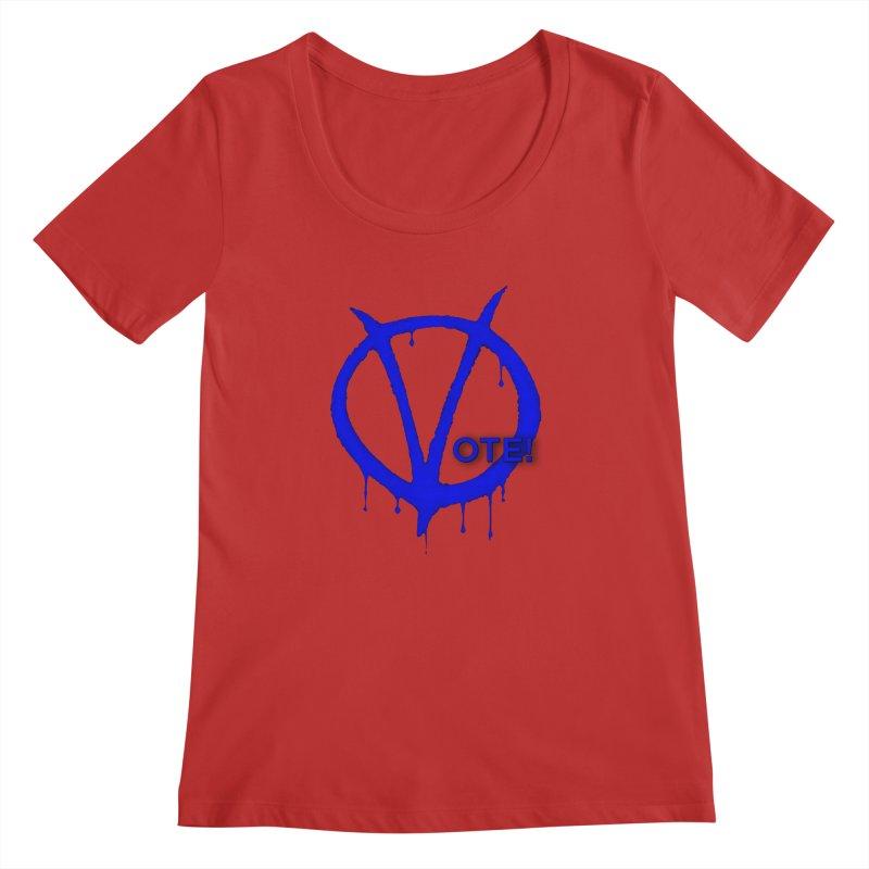 Vote Blue Women's Regular Scoop Neck by Resistance Merch