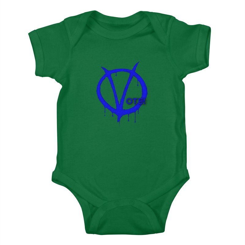 Vote Blue Kids Baby Bodysuit by Resistance Merch