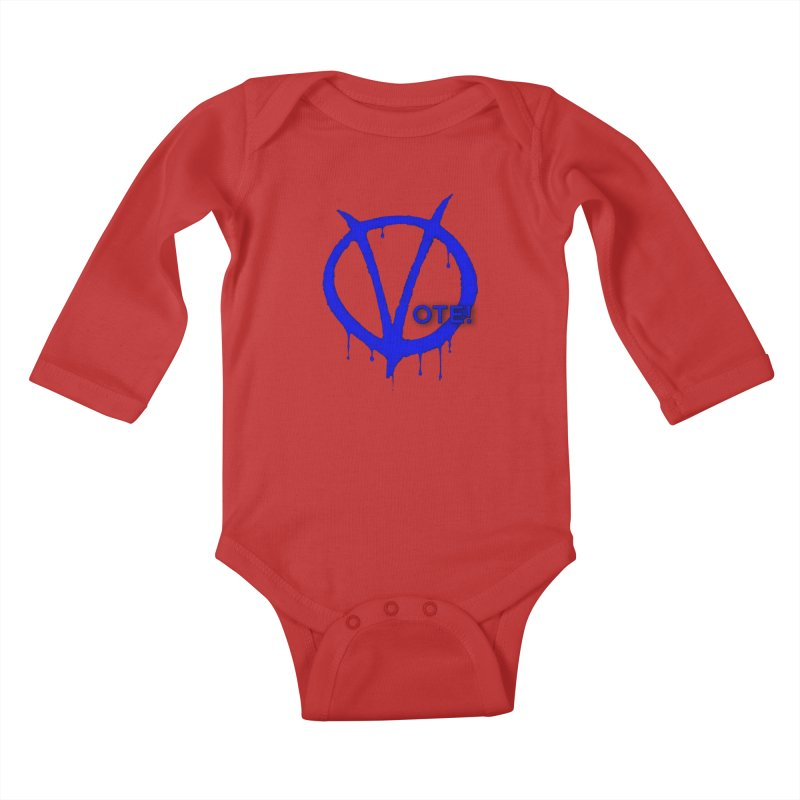 Vote Blue Kids Baby Longsleeve Bodysuit by Resistance Merch