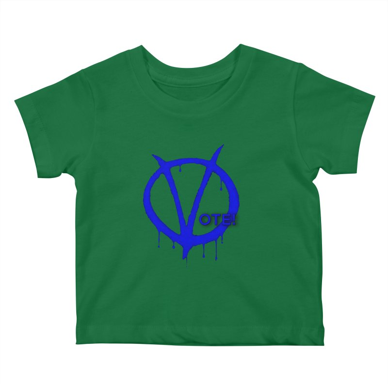 Vote Blue Kids Baby T-Shirt by Resistance Merch