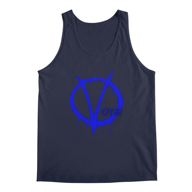 Vote Blue Men's Regular Tank by Resistance Merch