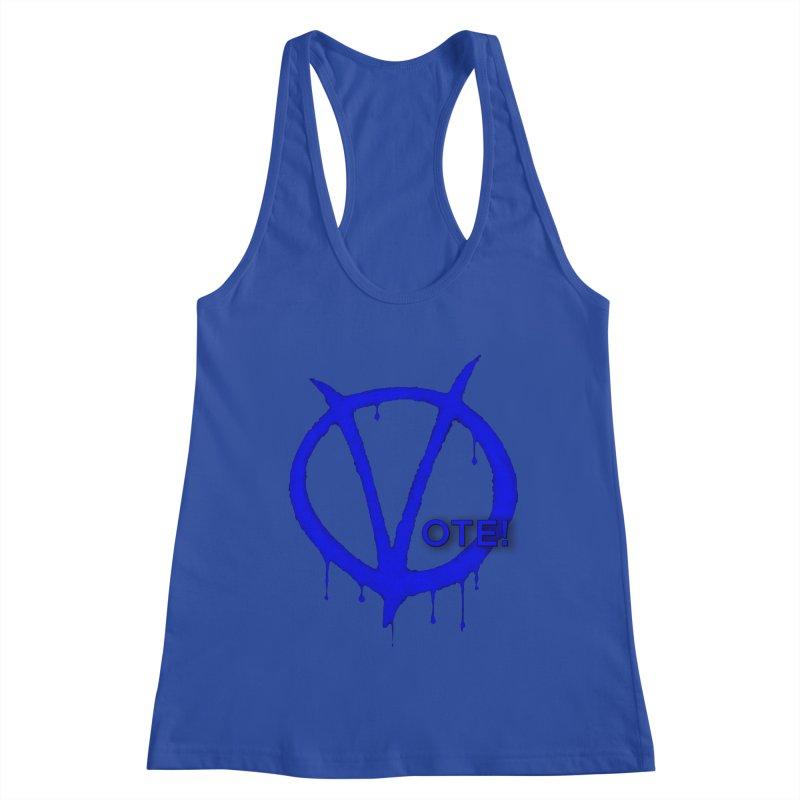 Vote Blue Women's Racerback Tank by Resistance Merch