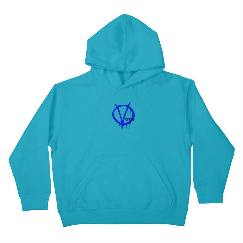 Vote Blue Kids Pullover Hoody by Resistance Merch