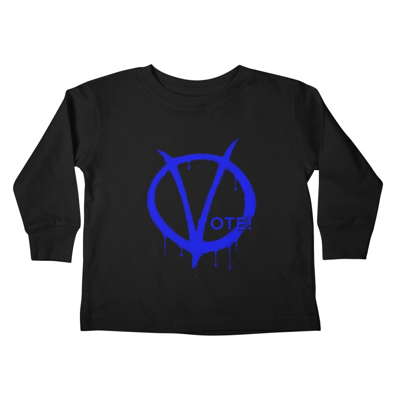 Vote Blue Kids Toddler Longsleeve T-Shirt by Resistance Merch