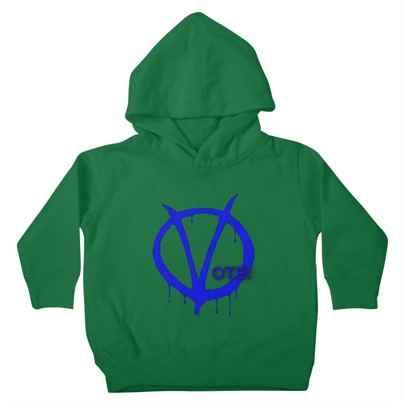 Vote Blue Kids Toddler Pullover Hoody by Resistance Merch