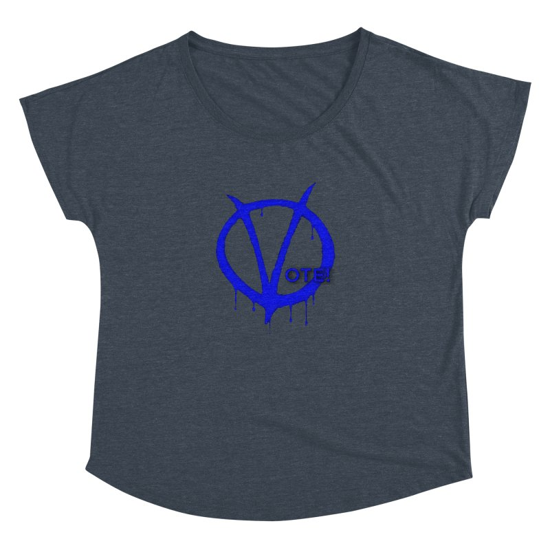 Vote Blue Women's Dolman Scoop Neck by Resistance Merch