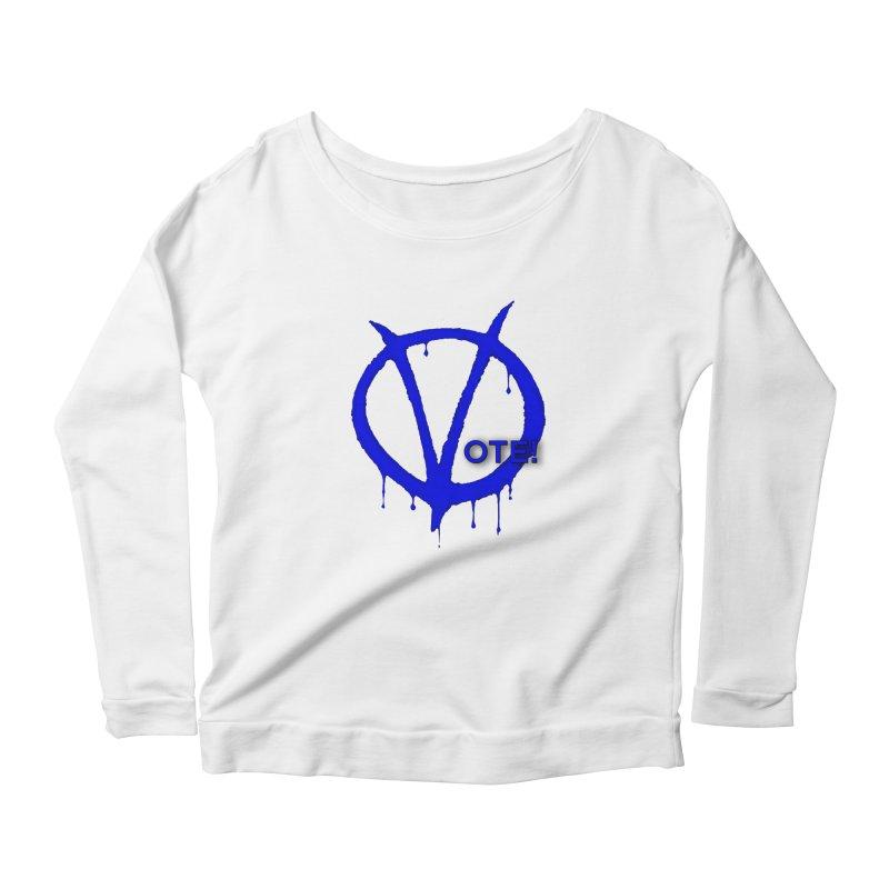 Vote Blue Women's Scoop Neck Longsleeve T-Shirt by Resistance Merch