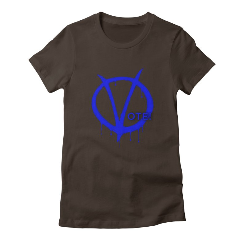 Vote Blue Women's Fitted T-Shirt by Resistance Merch