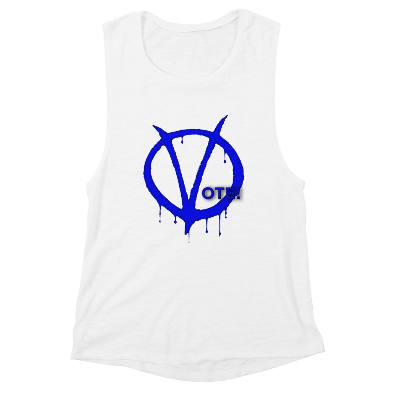 Vote Blue Women's Muscle Tank by Resistance Merch