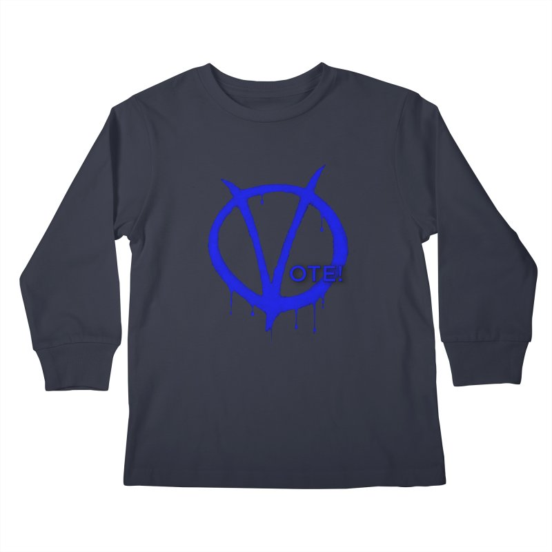Vote Blue Kids Longsleeve T-Shirt by Resistance Merch